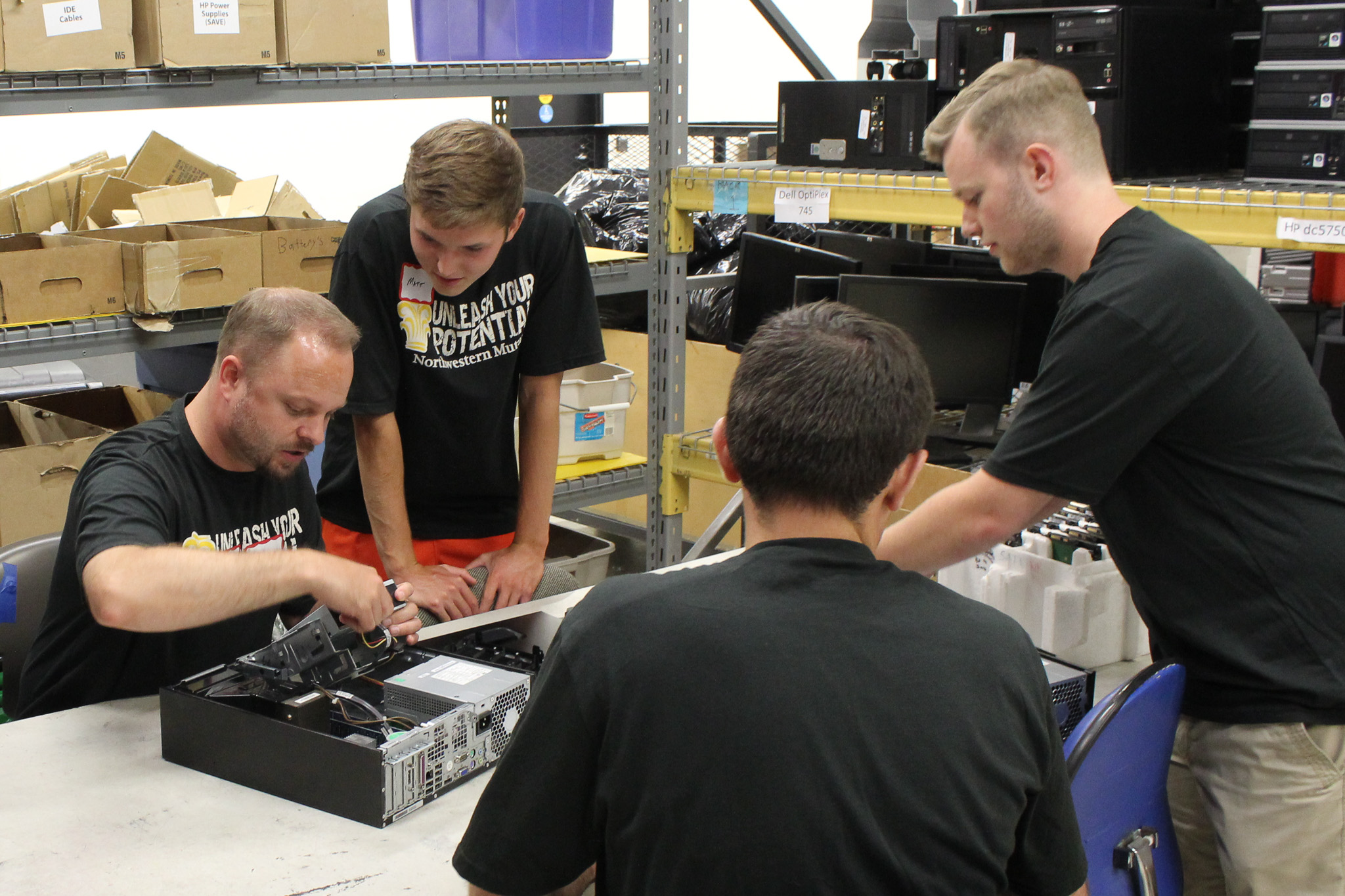 Volunteers at Ability Built Computers.