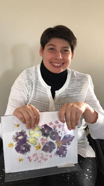 Kay Loftus with painting